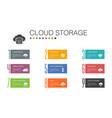 cloud storage infographic 10 option line concept vector image vector image