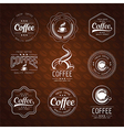coffee label3 vector image vector image