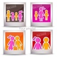 colorful family photo vector image