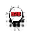 Comic b2bt arrr sound effects pop art vector image