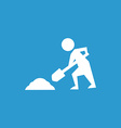construction works icon white on the blue vector image vector image