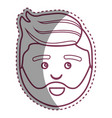 contour man with beard and hairstyle design vector image vector image