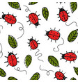 cute summer pattern with hand drawn ladybugs and vector image vector image