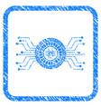 digital casino circuit framed grunge icon vector image vector image