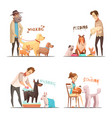 dog concept icons set vector image vector image