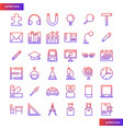 education and learning gradient icons set vector image