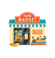 farm market flat food store vector image