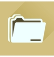 Flat icon with long shadow documents folder vector image vector image