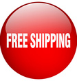 free shipping red round gel isolated push button vector image vector image
