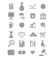 Gray economy icons set vector image vector image