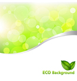Green Eco Background vector image vector image