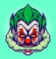head joker smoking joint cloud vector image vector image