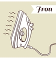 Iron On Beige Background vector image