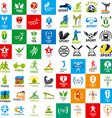 large set of logos of sports and fitness vector image vector image