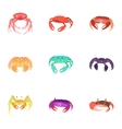 Lobster icons set cartoon style vector image