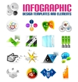 Modern colorful infographic templates and elements vector image