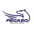 modern pegasus logo vector image