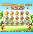 monkey game jungle template vector image