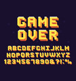 pixel game font retro games text 90s gaming vector image