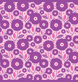 purple folk flowers texture pattern vector image vector image