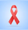 realistic red ribbon world aids day symbol on vector image vector image