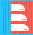 red and blue striped background vector image vector image
