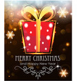 red christmas gift on holiday background vector image