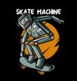 retro robot skateboarding vector image vector image
