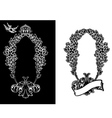 royal ornate wreath vector image vector image