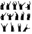 set dance man vector image vector image