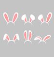 set easter bunny cartoon vector image vector image