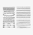 set hand drawn lines and dividers vector image vector image