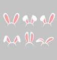 set of easter bunny cartoon vector image vector image