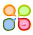 Set of round colour blur talk bubbles vector image vector image