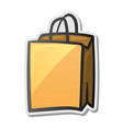 shopping bag icon sticker vector image