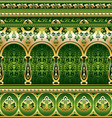 silk green ornament vector image vector image