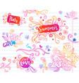 sketch floral doodles vector image vector image