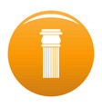 stone column icon orange vector image