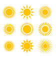 suns icons set vector image