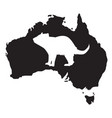 tasmanian devil white silhouette vector image vector image