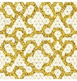 Tribal glitter golden seamless pattern vector image vector image