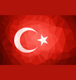 turkey flag abstract polygon background vector image vector image