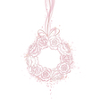 Wedding decorative wreath of roses with copy space vector image