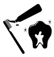 clean tooth icon set vector image