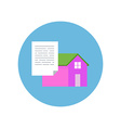 Flat Design Realty Icon Home with Document vector image