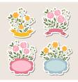 Floral romantic borders set vector image