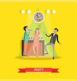 disco party in flat style vector image