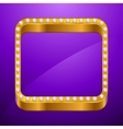 Abstract background with gold frame and jewels vector image