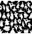 halloween spooky ghost seamless pattern vector image