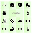 14 athletic icons vector image vector image